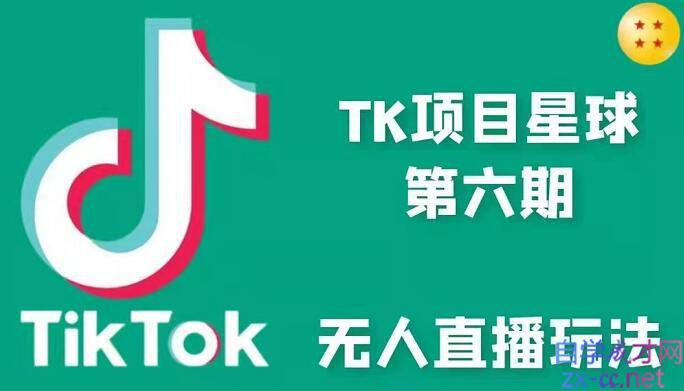 小志·TikTok无人直播玩法第六期,价值1988元